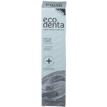 Ecodenta Triple Force Tandpasta Witte Klei 100 ml