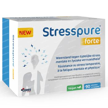 StressPure Forte - Rhodiola Extract + Vitamine B-Complex 90 tabletten
