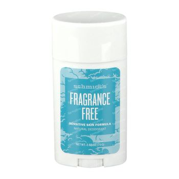 Schmidt's Deodorant Stick Fragrance Free 75 g