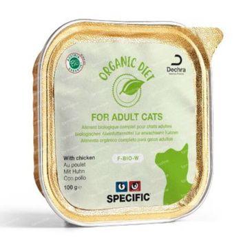 Specific Organic Diet F-Bio-W Chicken Kat 8x100 g