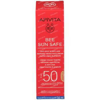 Apivita Bee Sun Safe Anti-Spot & Anti-Age Defense Tinted Face Cream SPF50 50 ml
