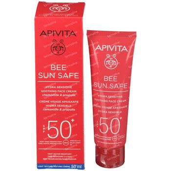 Apivita Bee Sun Safe Hydra Sensitive Soothing Face Cream SPF50+ 50 ml
