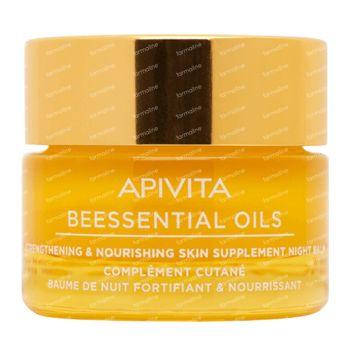 Apivita Beessential Oils Strengthening & Nourising Skin Supplement Night Balm 15 ml