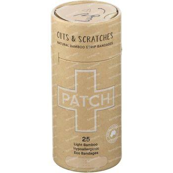 PATCH Pansements en Bambou Naturel Coupures & Égratignures 25 pièces