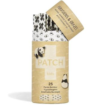 PATCH Kids Panda Bamboo Pleisters Schaafwonden Kokosolie 25 stuks