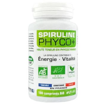 Spiruline Phyco+ 500mg Bio 180 capsules