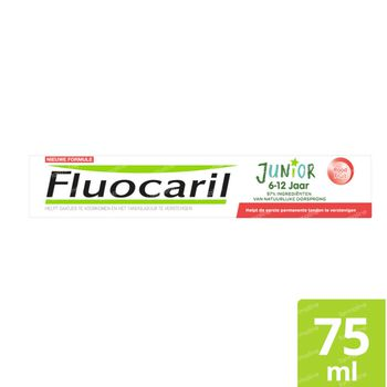 Fluocaril Junior Tandpasta Rood Fruit Nieuwe Formule 75 ml
