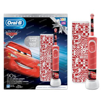 Oral-B D100 Cars + Valise de Voyage GRATUIT 1 set