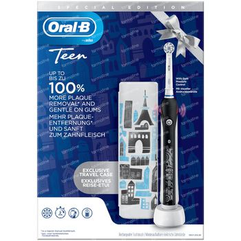 Oral-B D601 Teens Black + Travelcase GRATIS 1 set