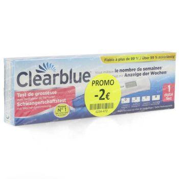 Clearblue Test de Grossesse avec Indicateur de Semaines Prix Réduit 1 pièce