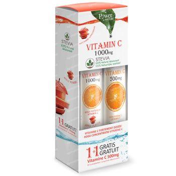 Power of Nature Vitamin C Apple 1000mg + Vitamin C 500mg 24+20 bruistabletten