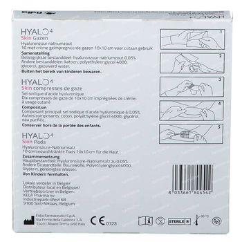 Hyalo 4 Skin Gaas 10x10cm 10 kompressen