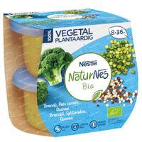 Nestlé NaturNes Bio Plantaardig Broccoli - Spliterwten - Quinoa 2x190 g