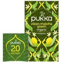 Pukka Herbs Thé Clean Matcha Green 20 pièces