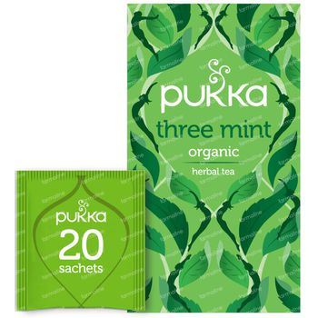 Pukka Herbs Thee Three Mint 20 stuks