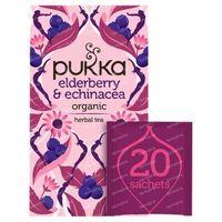 Pukka Herbs Thé Elderberry & Echinacea 20 pièces