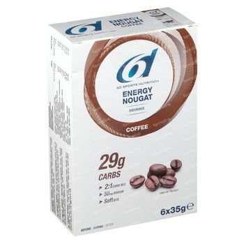 6D Sports Nutrition Energy Nougat Coffee 6x35 g