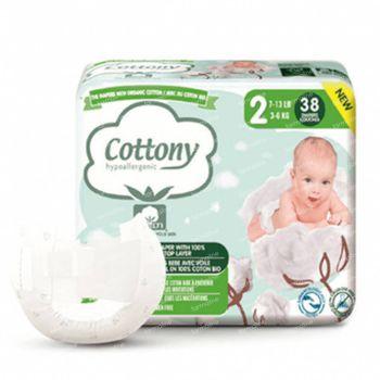 Cottony Luiers Maat 2 3-6 kg 38 stuks