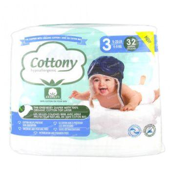 Cottony Luiers Maat 3 4-9 kg 32 stuks