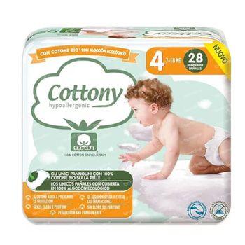 Cottony Luiers Maat 4 7-18 kg 28 stuks