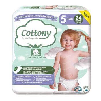 Cottony Luiers Maat 5 11-25 kg 24 stuks