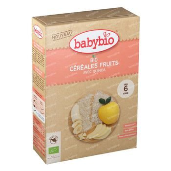 Babybio Babygranen Vruchten en Quinoa Bio 6 Maanden 200 g