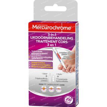 Mercurochrome 3-in-1 Likdoornbehandeling 1 stuk