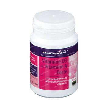 Mannavital Vitamine D3 + Vitamine A Forte 60 capsules