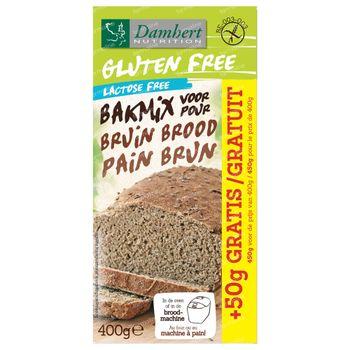 Damhert Gluten Free Mix Pain Brun Lactose Free 400 g