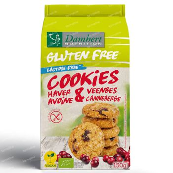 Damhert Gluten Free Haverkoekjes Cranberry 150 g