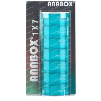 Anabox Pillendoos Week Blauw 1 stuk
