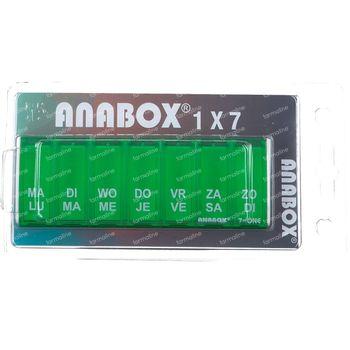 Anabox Pillendoos Week Groen 1 stuk