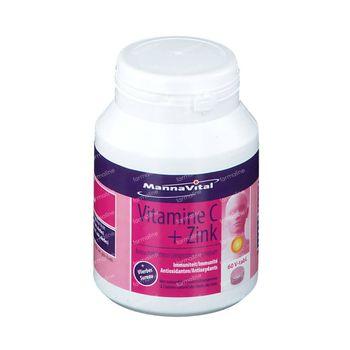 Mannavital Vitamine C + Zink + Vlierbes 60 kauwtabletten