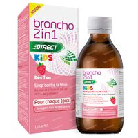 Broncho 2 en 1 Kids Sirop Contre la Toux Goût de Fraise - Toux Sèche, Toux Grasse 120 ml