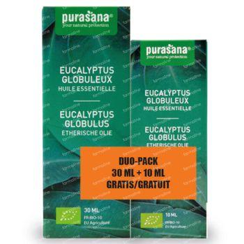 Purasana Etherische Olie Eucalyptus Globulus + 10 ml GRATIS 30+10 ml