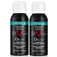 Vichy Homme Deodorant Optimale Tolerantie 48h DUO 2x100 ml spray