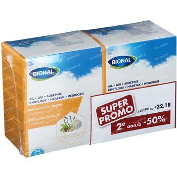 Bional Knoflook + Maretak + Meidoorn DUO Verlaagde Prijs 2x200 capsules