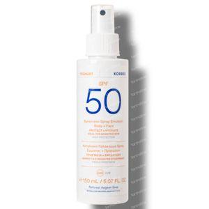 Korres Yoghurt Sunscreen Spray Emulsion Face & Body SPF50 150 ml
