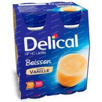 Delical Boisson Lactée HP-HC Vanille 360kcal 4x200 ml