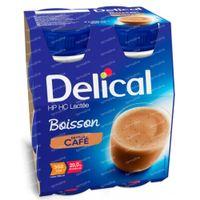 Delical Boisson Lactée HP-HC Café 360kcal 4x200 ml