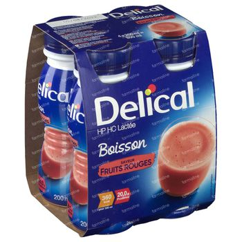 Delical Melkdrank HP-HC Rode Vruchten 360kcal 4x200 ml