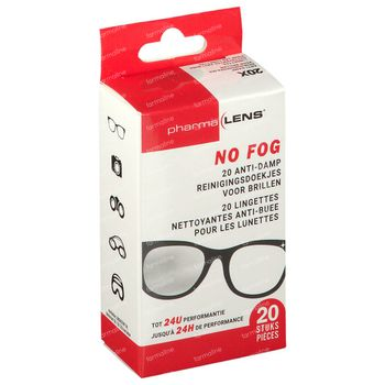 Pharmalens No Fog Reinigingsdoekjes 20 stuks