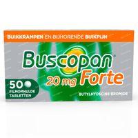 Buscopan Forte 20mg - Buikkrampen 50  tabletten