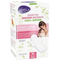 Unyque Serviettes Douceur Maternité 10 pièces