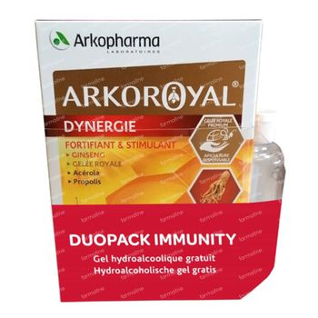 Arkoroyal Dynergie DUO + Gel Mains GRATUITEMENT 40x10 ml ampoules
