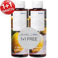 Korres Basil Lemon Renewing Body Cleanser 1+1 GRATIS 2x250 ml