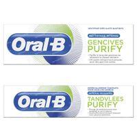 Oral-B Tandpasta Lab Purify Deep Clean DUO 2x75 ml