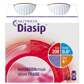 Diasip Aardbei Nieuw Model 4x200 ml