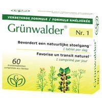Grünwalder Nr.1 – Natuurlijke Stoelgang Nieuwe Formule 60  tabletten