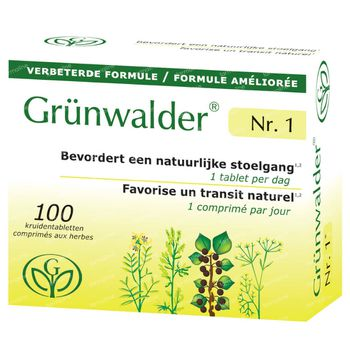 Grünwalder Nr.1 – Transit Naturel Nouvelle Formule 100 comprimés